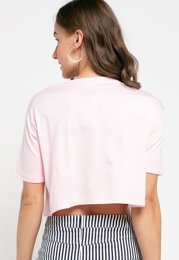LTD30 thirdday crop top cl td simple light pink