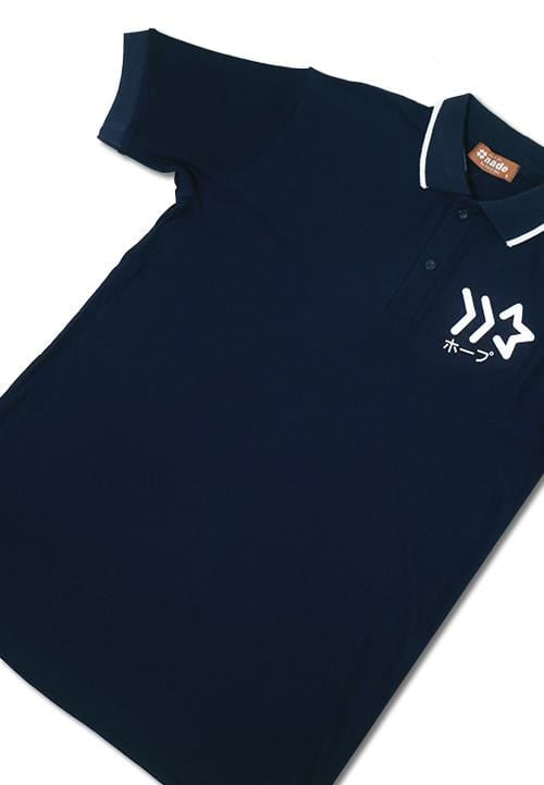 Nade NT261 polo wh stripe coll star logo nv Navy