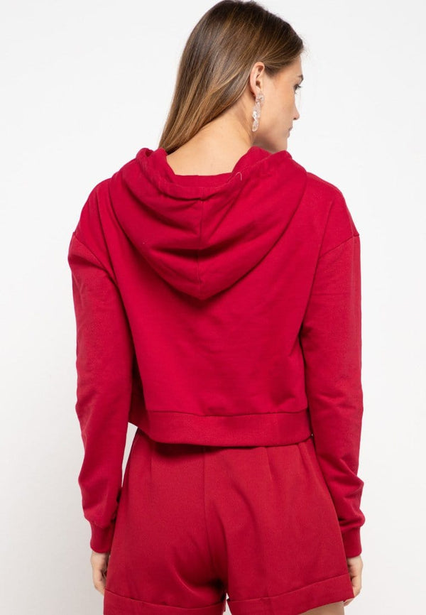 LMP009 pbch crop hoodie thdy sign rectangle maroon