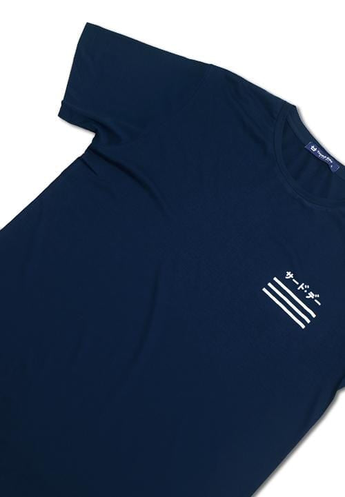 Third Day MTD55D 3linebase katakana nv T-shirt Navy