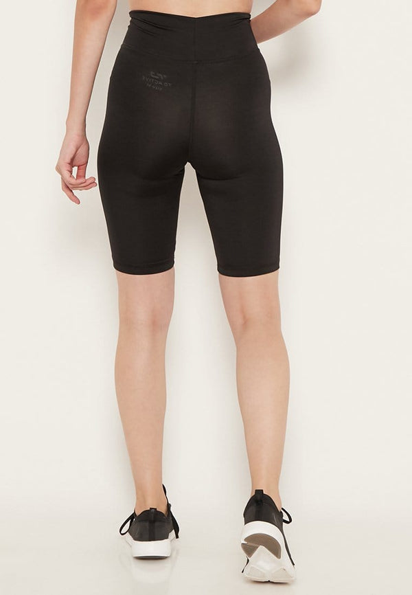 LB033 td active compression legging knee olahraga wanita black