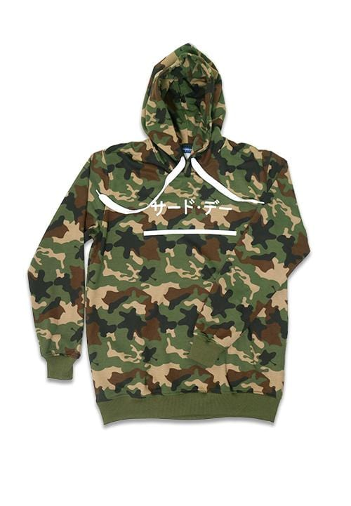 Third Day MO134F hoodies katakana underline camo gr-olv