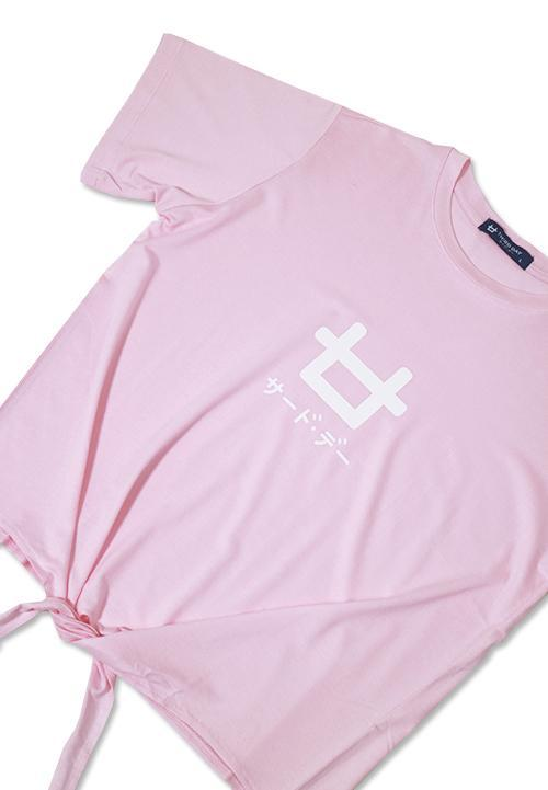 Third Day LTB22E CK logo icon pk T-shirt Pink