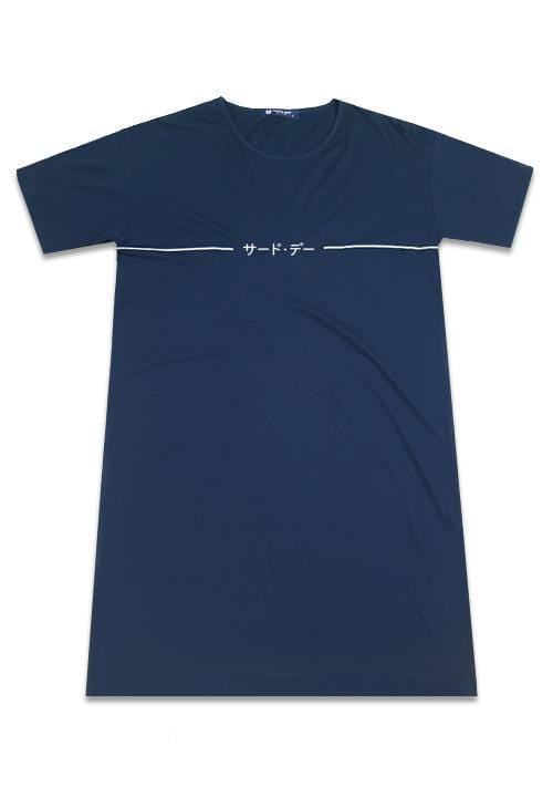 Third Day LTB12D LD single line katakana nv Dress Navy