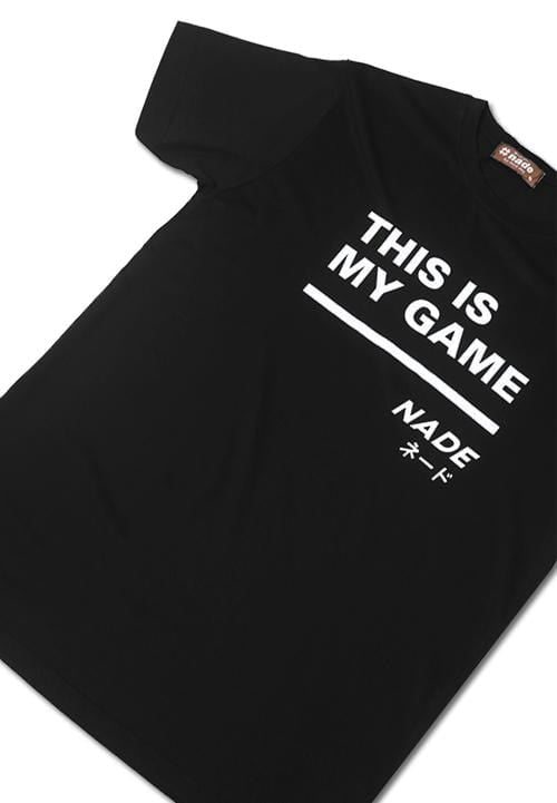 Nade NT316 nade this is my game big line hitam kaos pria