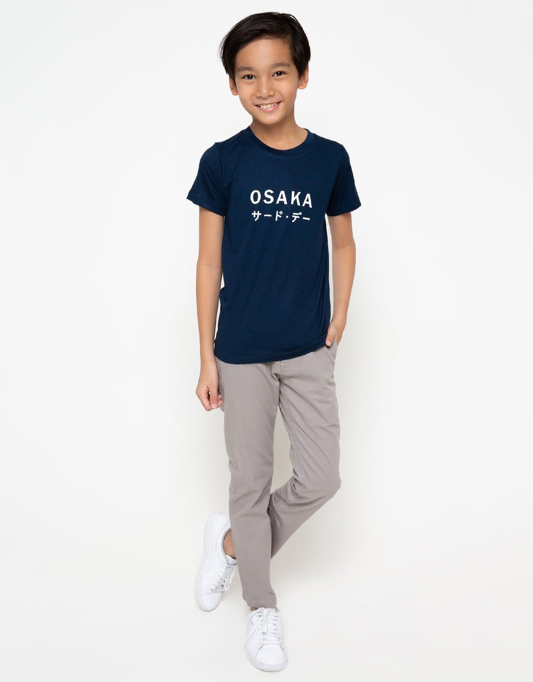 BT165 thirdday kaos anak osaka katakana dateng navy