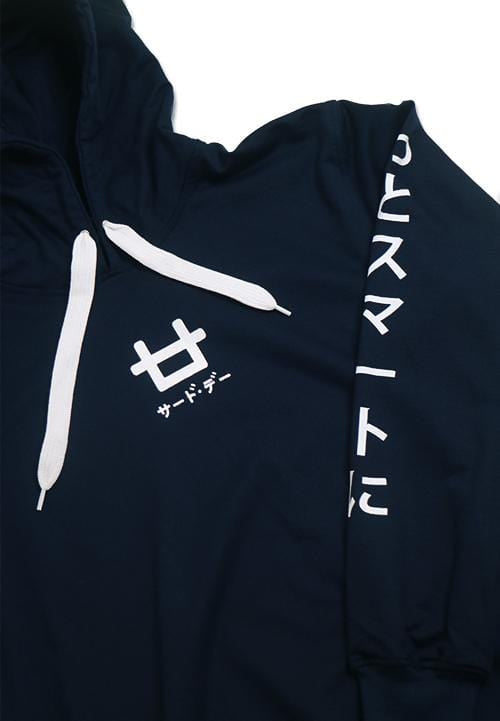 Third Day MO104C hoodies Ktkn arm mid logo nv Hoodie Navy