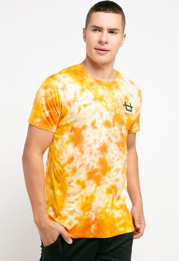 MTH36 thirdday tie dye yellow peach unisex t-shirt