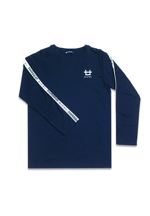 Third Day MTC89B l-s long sleeve logobreast tdkt list nv T-shirt Navy