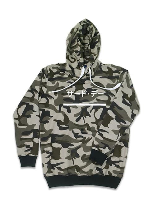 Third Day MO136F hoodies katakana underline camo br-gr