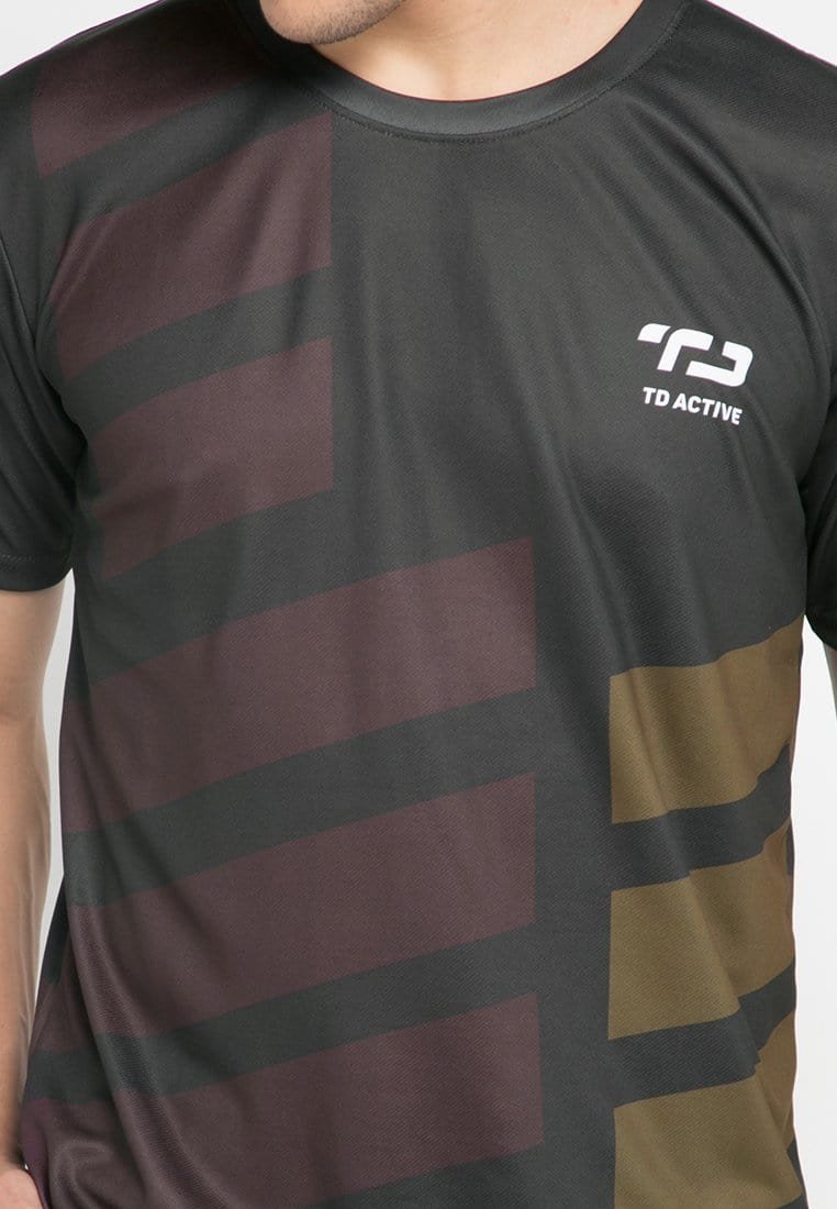MS097 tdactive rib maroon gold running jersey