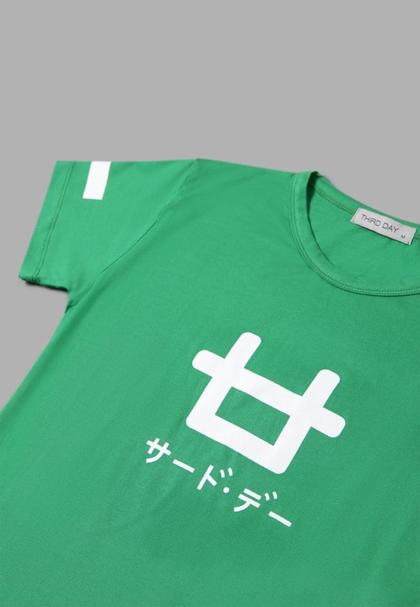 LT799P s/s Ladies Logo Fancy green