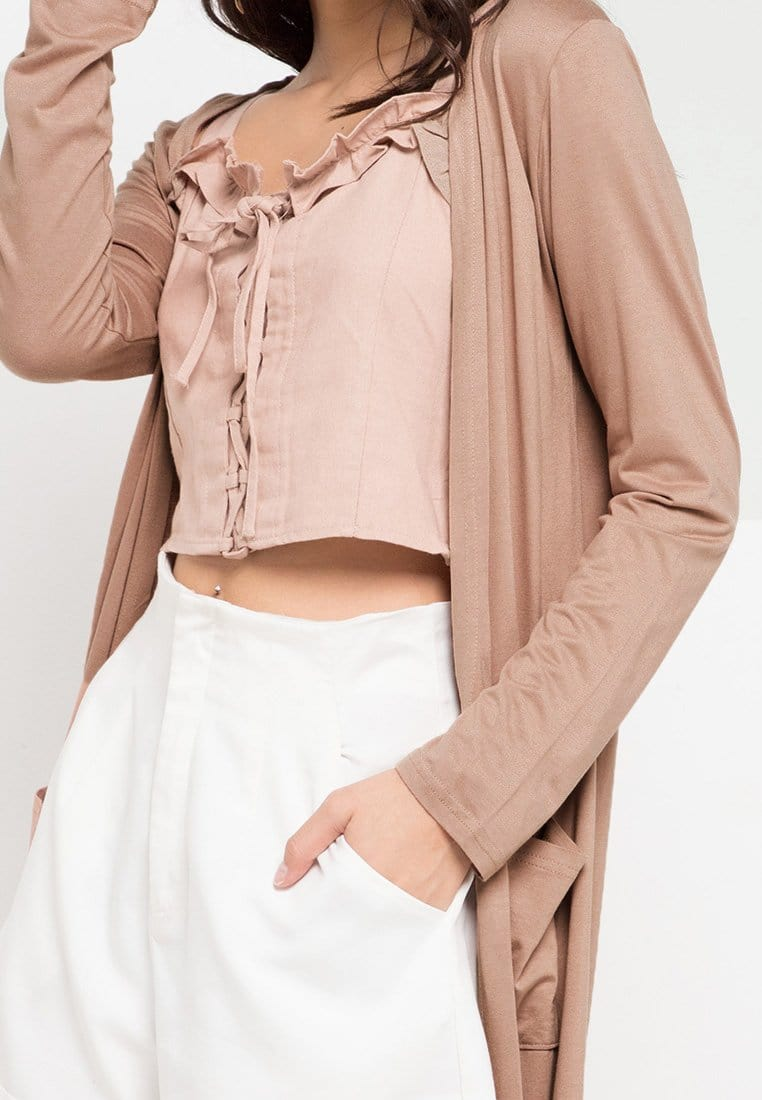 FO0008 Long Outer Pocket Light Brown