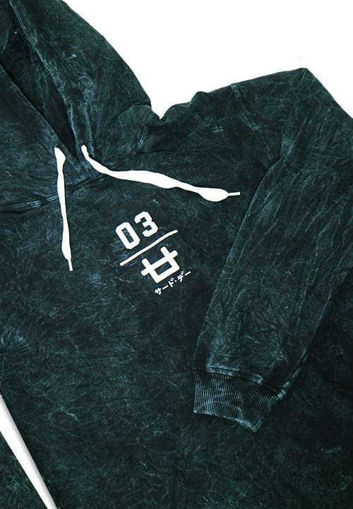 Third Day MO161 wash hoodies logo 03 navy