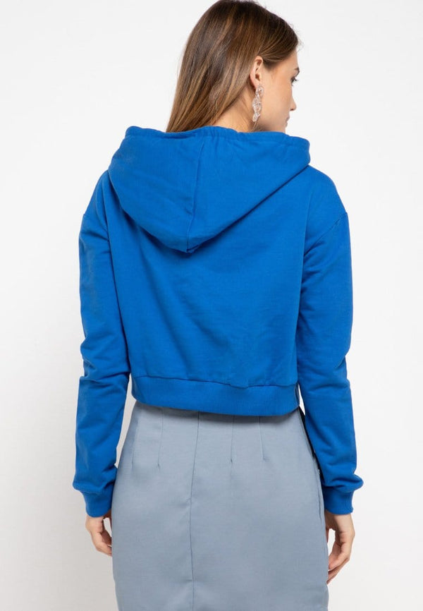LMP012 pbch crop hoodie thrdy sign square blue benhur