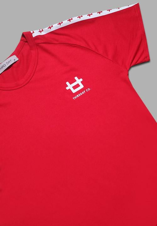 LT942S s-s Lds Raglan Logo List Red