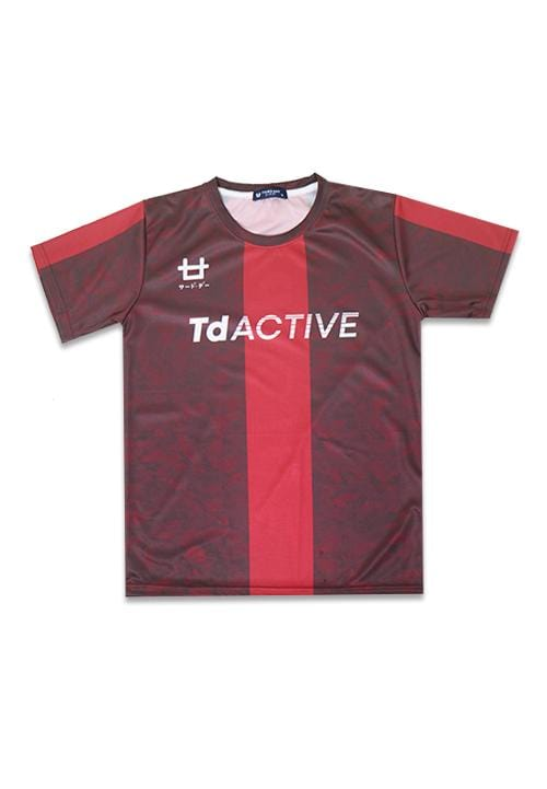 Third Day MS078 td active red leaves running jersey