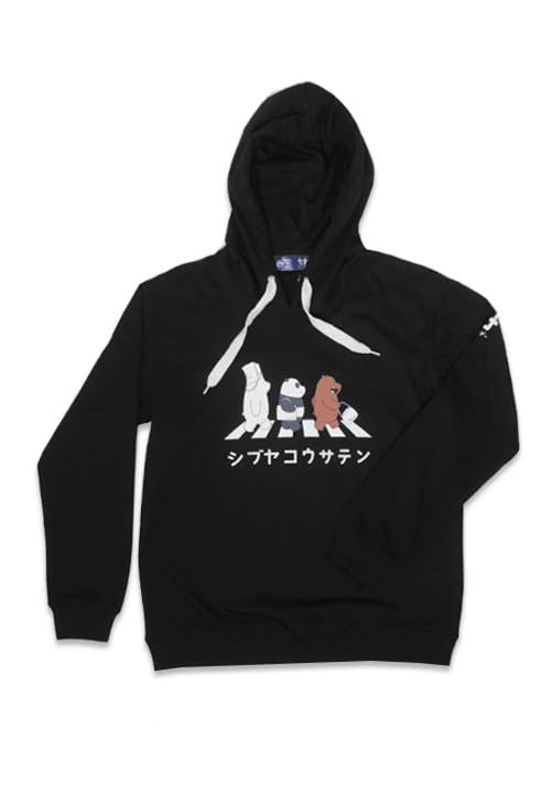 MO179 hoodies wbb crossing hitam sweater pria we bare bears