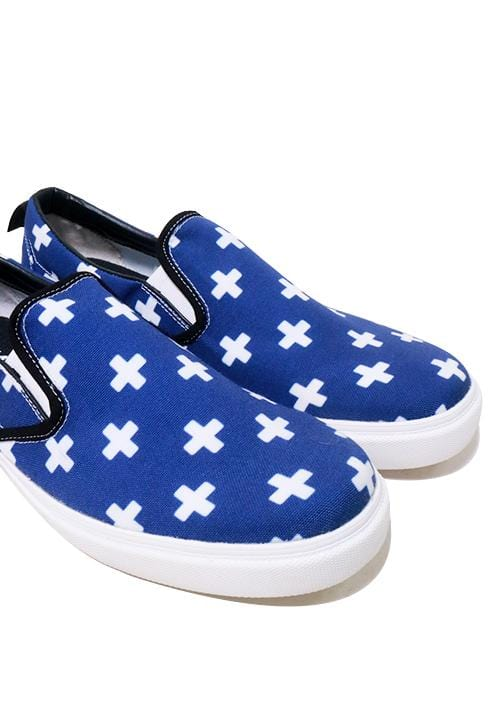 NH022 nade slip on shoes plus signs blue