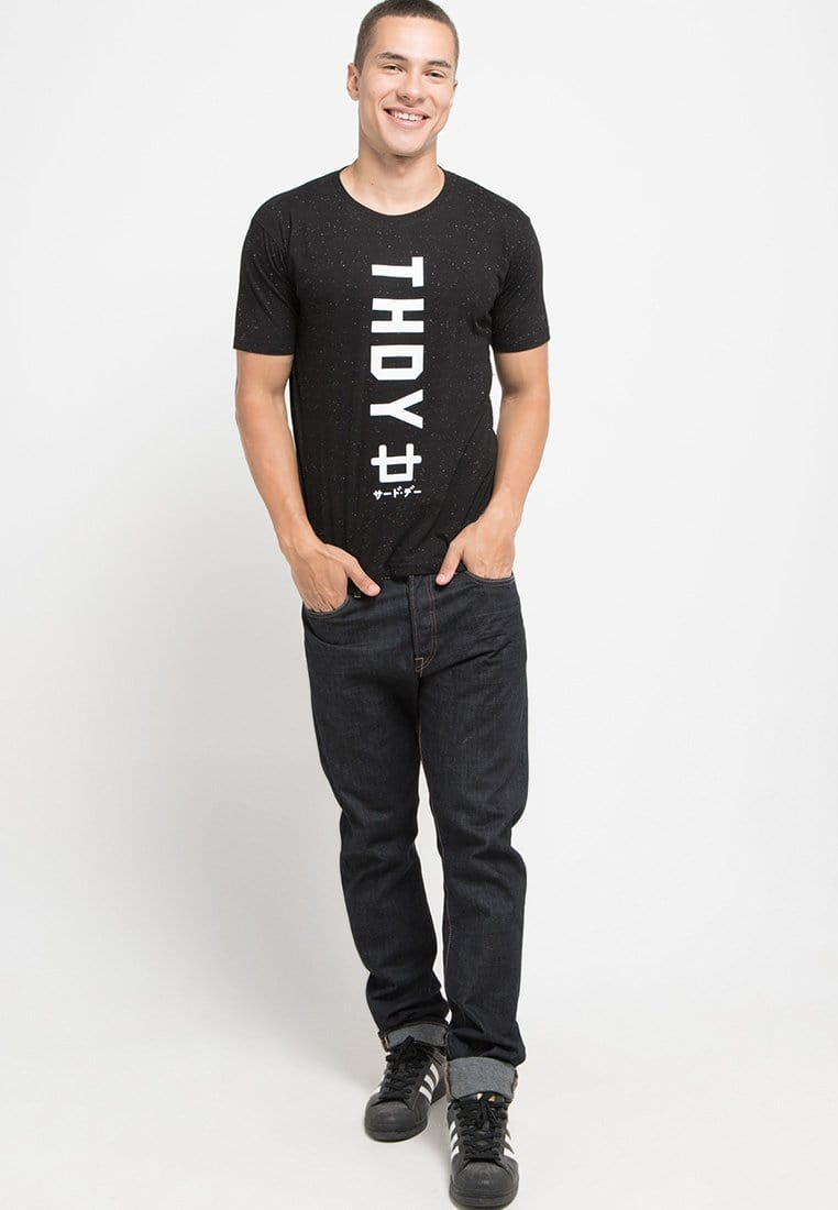 Third Day KMT001 s-s Men Thdy Logo Jpn blk nap T-shirt Hitam