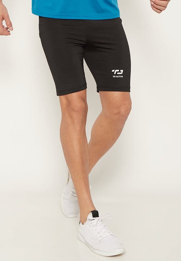 MB064 td active compression legging knee olahraga pria black