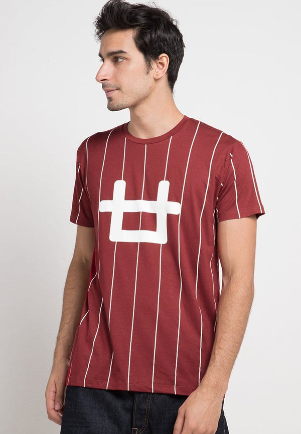 Third Day MTD61D ver lines logo mr T-shirt Maroon