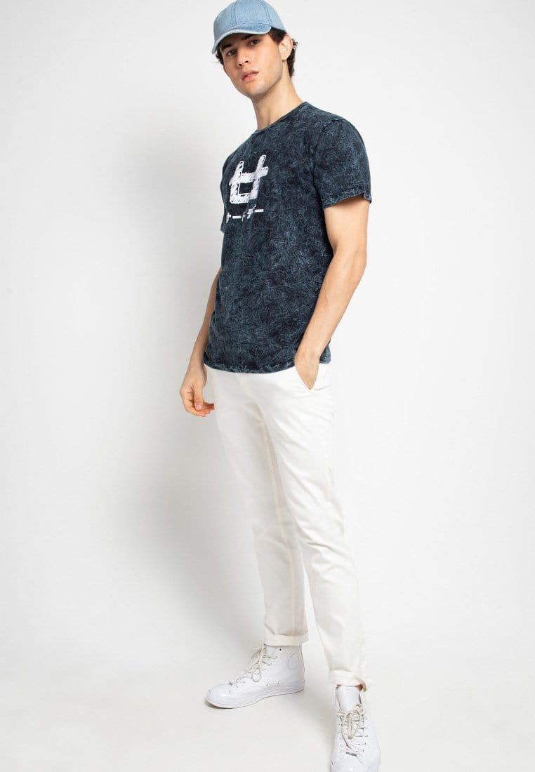 Third Day MTF37 washtees scribble nvy kaos pria navy