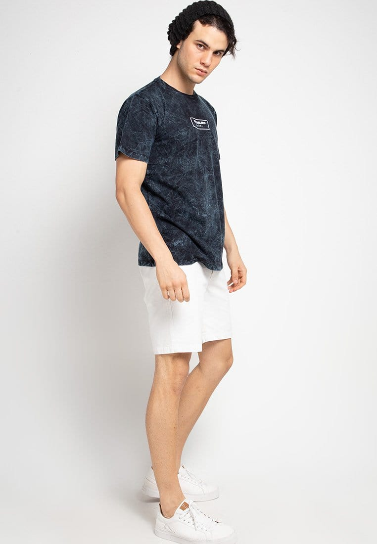 Third Day MTF41 washtees tori daijiro boxed nvy kaos pria Navy