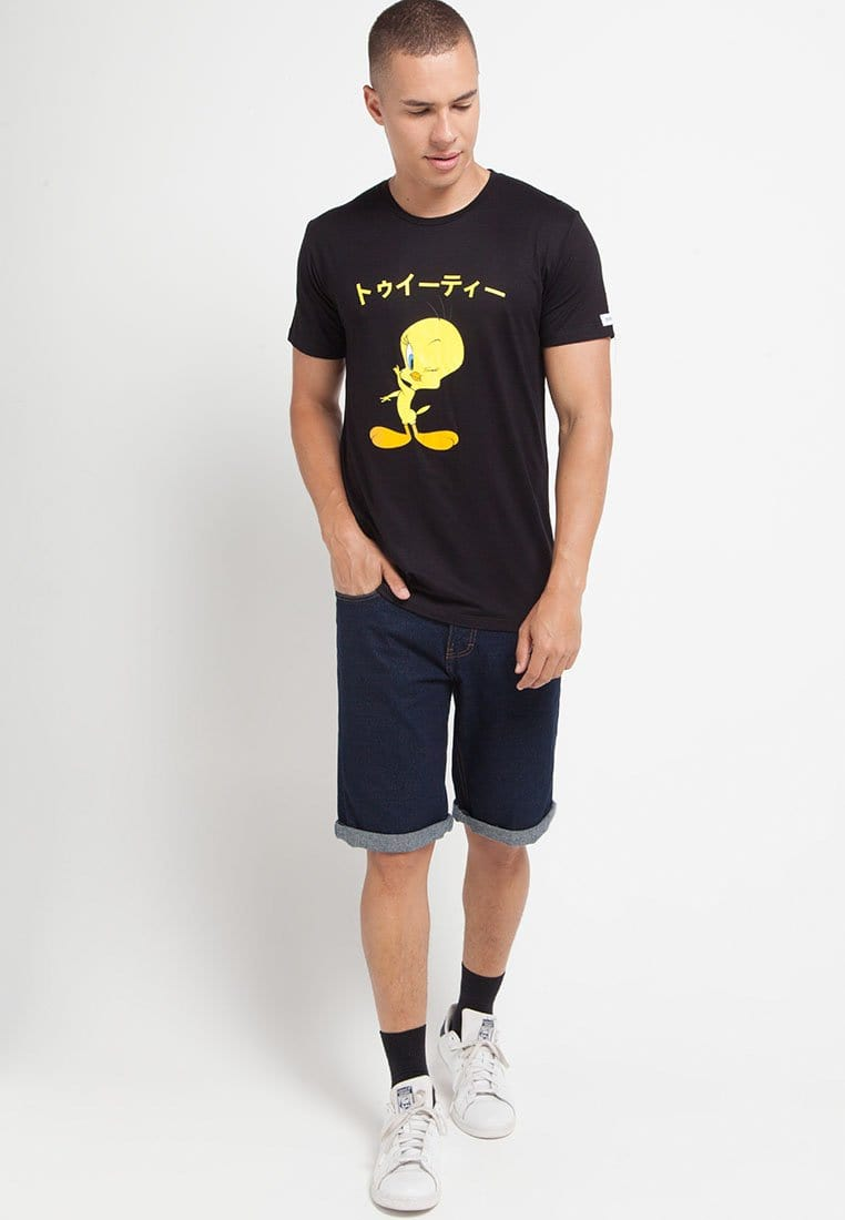 Third Day MTG19 looney tunes tweety japan hitam kaos pria