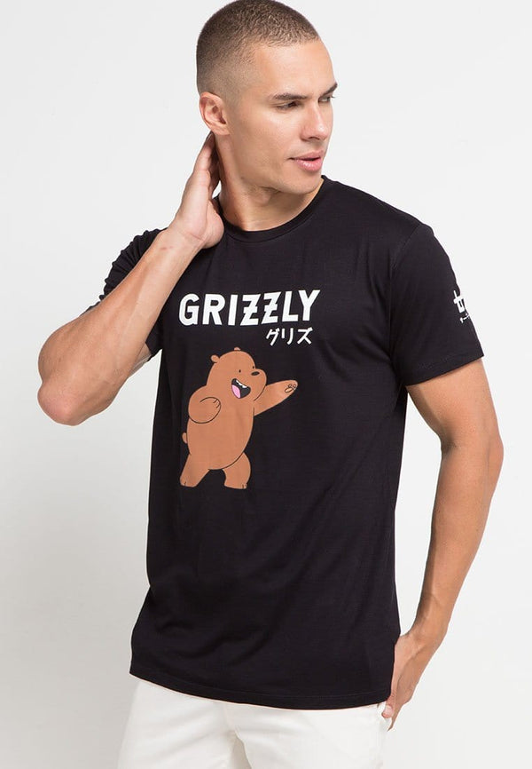 MTG41 grizzly color we bare bears WBB blk kaos hitam pria