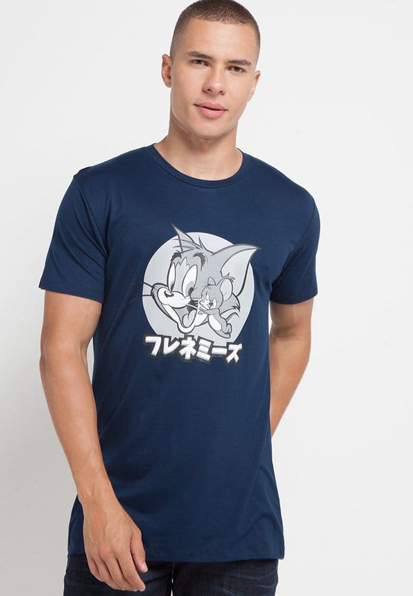 MTG70 tom jerry frenemies kaos pria unisex navy