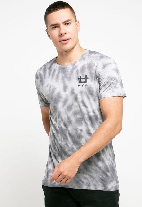 MTH33 thirdday tie dye white grey unisex t-shirt