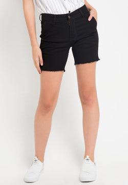 LB011i Ladies Hot Pant Black Rawis