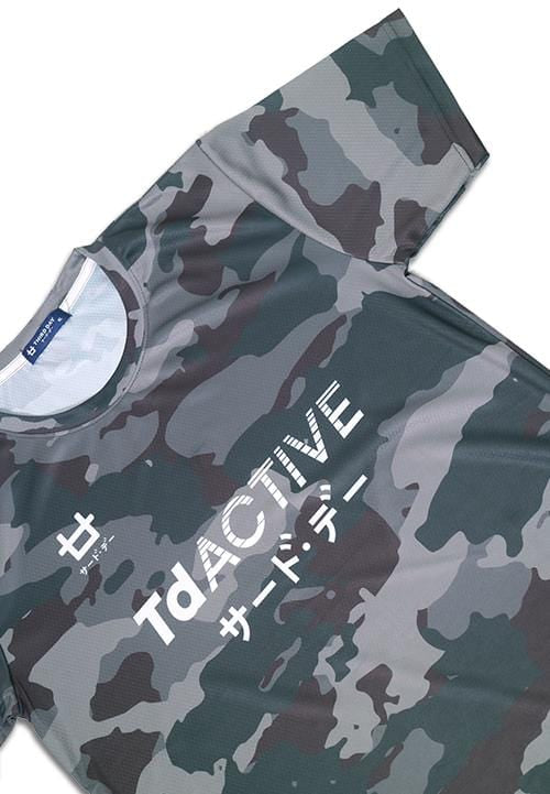 Third Day MS077 td active grey camo running jersey