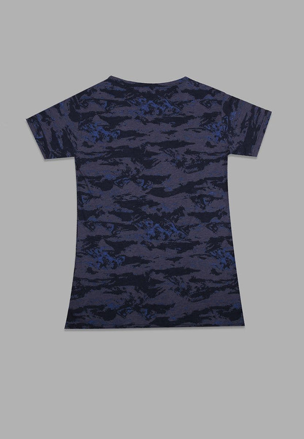 LT913R s/s Lds Blue Camo-As Logo