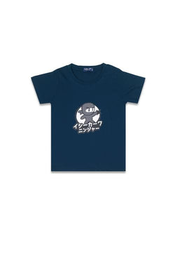 Third Day Kids DT101 tod ishikawa ninja grey nv T-shirt Navy