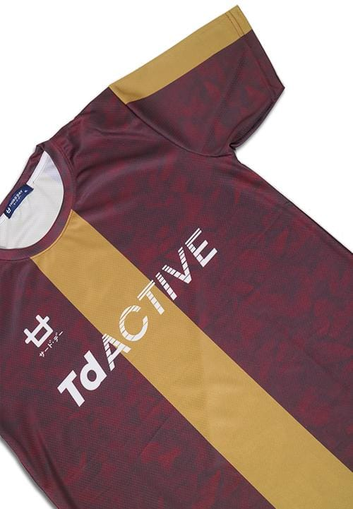 Third Day td active red gold leaf running jersey