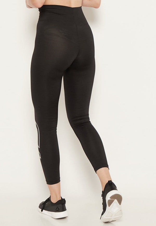 LB031 td active compression logo icon legging full line olahraga wanita black