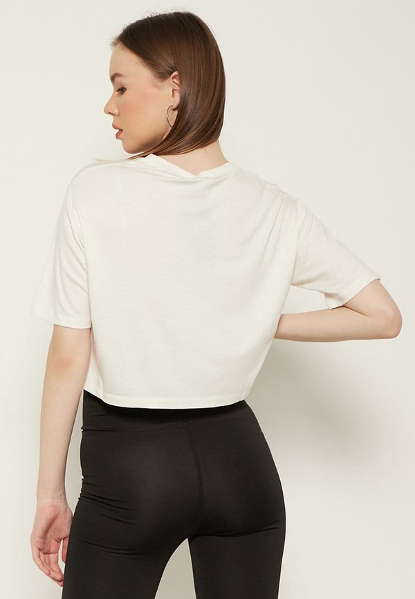 LTD17 OLC crop top loose simple does it white