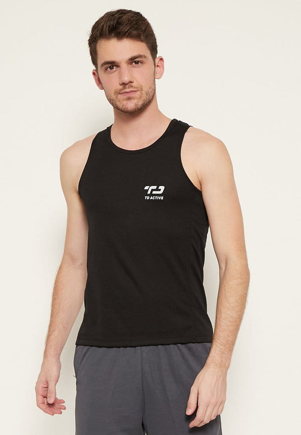MS107 td active dateng back zigzag tr tanktop jersey hitam