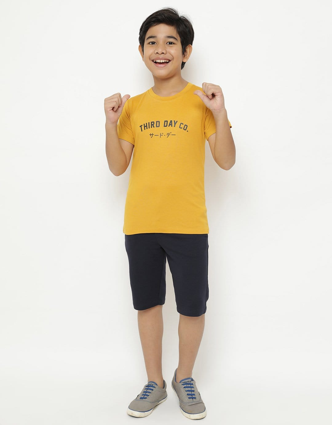 BT186 thirdday kaos anak tdco mustard