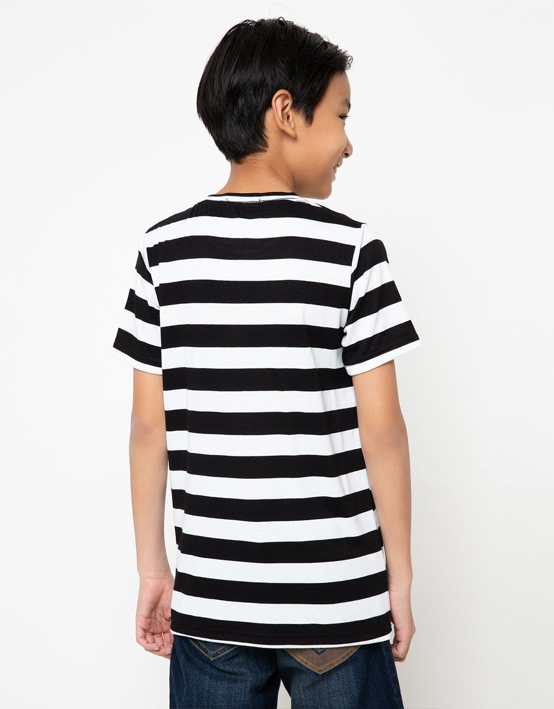 BT153 thirdday kaos anak tido flying stripe hitam putih