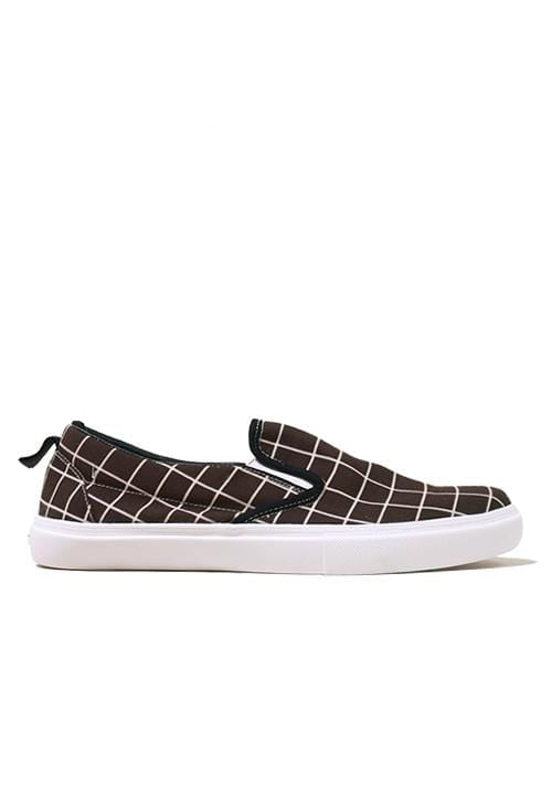 NH024  nade slip on shoes rectangles brown