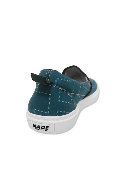 NH027 nade slip on shoes dotted tribal blue sky