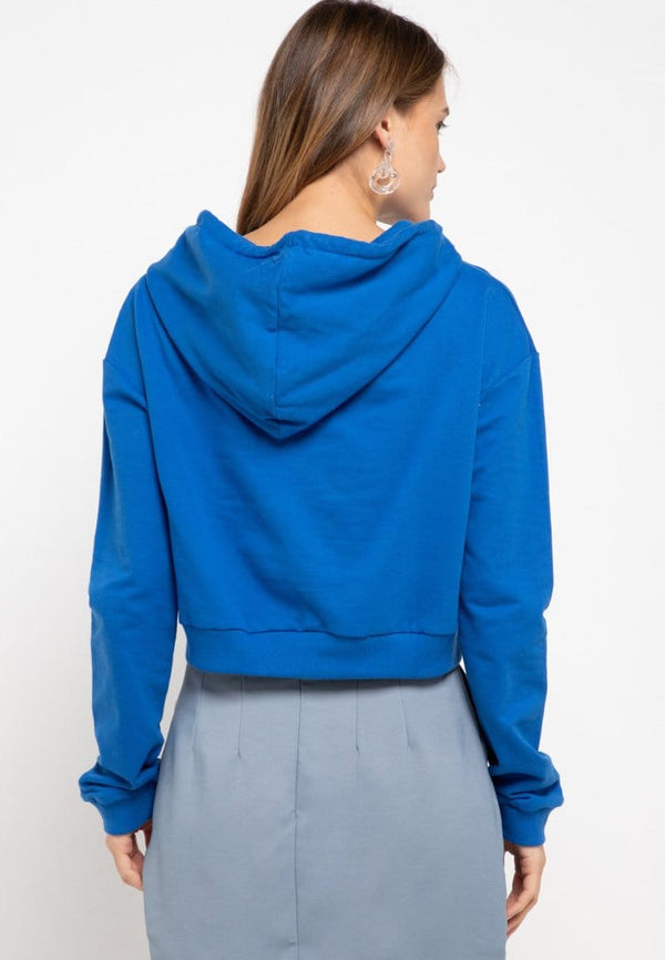 LMP008 pbch crop hoodie thdy sign rectangle blue benhur