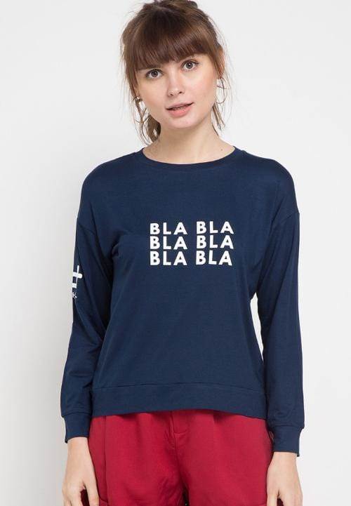 Third Day LTB19D LV bla bla logo arm nv T-shirt Navy
