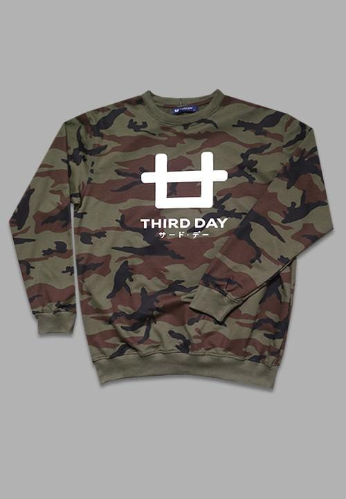MTA55W Men Sweater Brwn Camo Logo