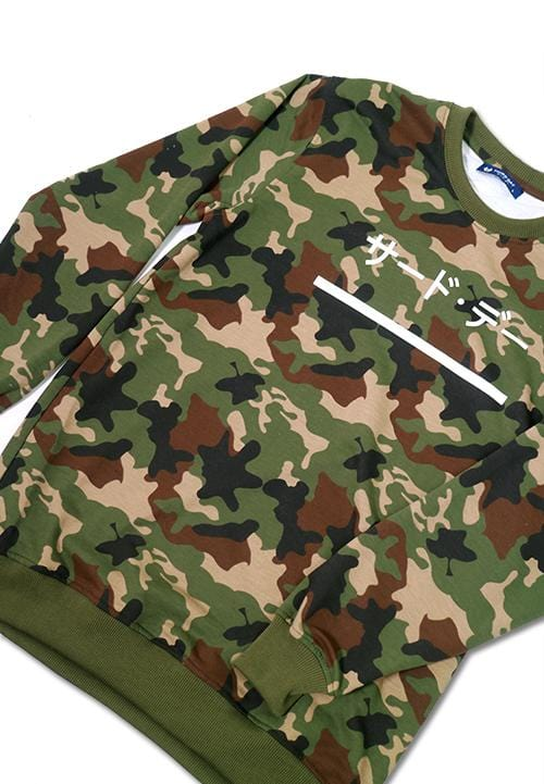 Third Day MO144F sweater katakana underline camo gr-olv