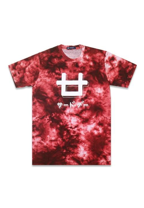 Third Day MTE81 logoicon shadow tiewash mr Kaos Pria Maroon