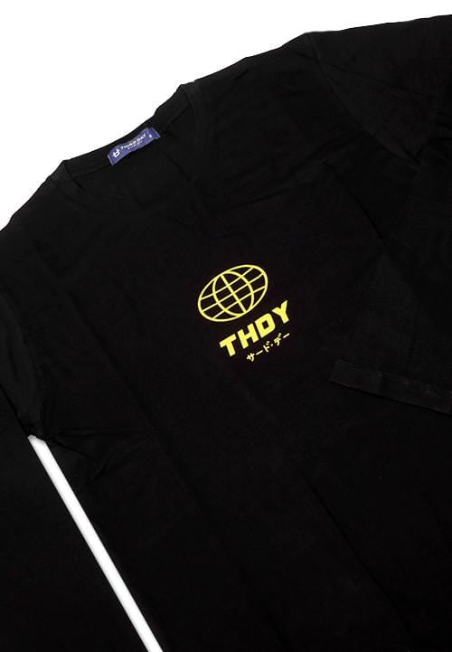 Third Day MTE97 long sleeve world thdy yellow blk Hitam